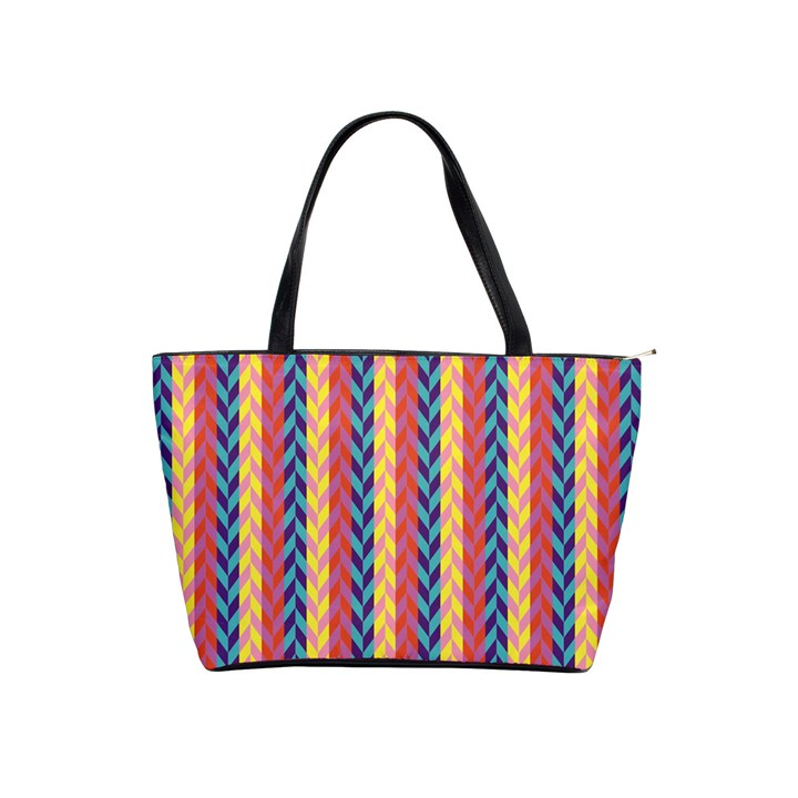 Colorful Chevron Retro Pattern Shoulder Handbags