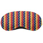 Colorful Chevron Retro Pattern Sleeping Masks Front