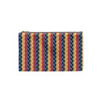 Colorful Chevron Retro Pattern Cosmetic Bag (Small)  Front