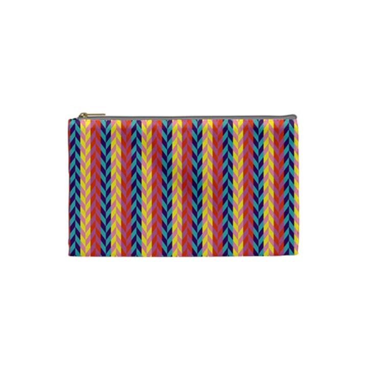 Colorful Chevron Retro Pattern Cosmetic Bag (Small)