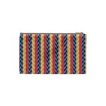 Colorful Chevron Retro Pattern Cosmetic Bag (Small)  Back