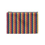 Colorful Chevron Retro Pattern Cosmetic Bag (Medium)  Front