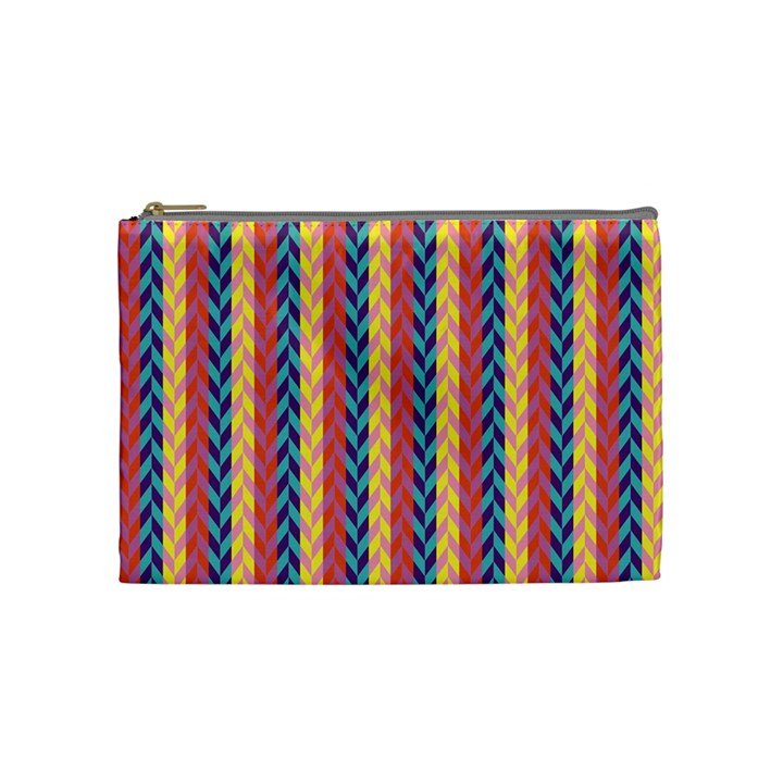 Colorful Chevron Retro Pattern Cosmetic Bag (Medium)