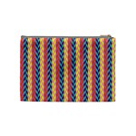 Colorful Chevron Retro Pattern Cosmetic Bag (Medium)  Back