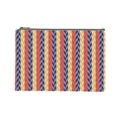 Colorful Chevron Retro Pattern Cosmetic Bag (large)