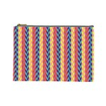 Colorful Chevron Retro Pattern Cosmetic Bag (Large)  Front