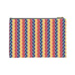 Colorful Chevron Retro Pattern Cosmetic Bag (Large)  Back