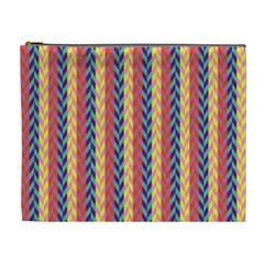 Colorful Chevron Retro Pattern Cosmetic Bag (XL)
