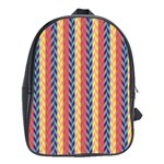 Colorful Chevron Retro Pattern School Bags(Large)  Front