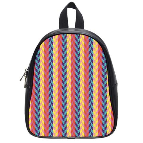 Colorful Chevron Retro Pattern School Bags (Small)