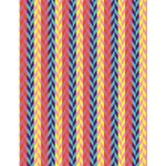 Colorful Chevron Retro Pattern Large Memo Pads 4.125 x5.5  Memopad