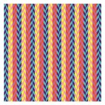Colorful Chevron Retro Pattern Small Memo Pads 3.75 x3.75  Memopad