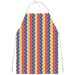 Colorful Chevron Retro Pattern Full Print Aprons
