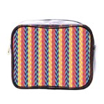 Colorful Chevron Retro Pattern Mini Toiletries Bags Front
