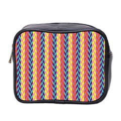 Colorful Chevron Retro Pattern Mini Toiletries Bag 2 Side