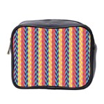 Colorful Chevron Retro Pattern Mini Toiletries Bag 2-Side Front