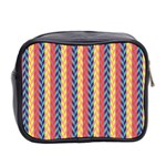 Colorful Chevron Retro Pattern Mini Toiletries Bag 2-Side Back