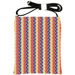Colorful Chevron Retro Pattern Shoulder Sling Bags Front