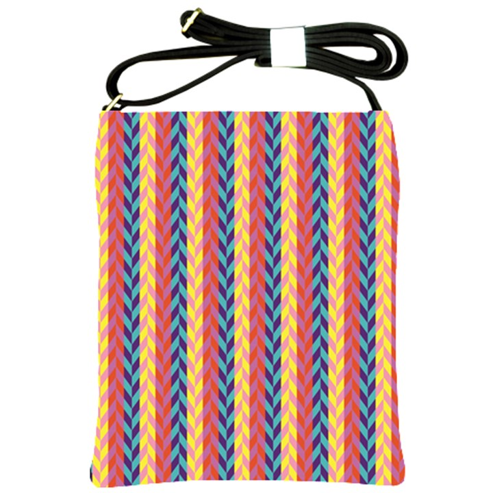 Colorful Chevron Retro Pattern Shoulder Sling Bags