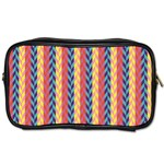 Colorful Chevron Retro Pattern Toiletries Bags Front