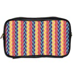 Colorful Chevron Retro Pattern Toiletries Bags 2-Side Back