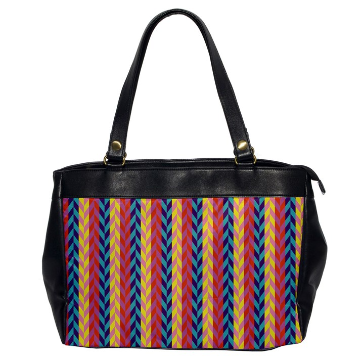 Colorful Chevron Retro Pattern Office Handbags