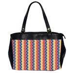 Colorful Chevron Retro Pattern Office Handbags (2 Sides)  Front