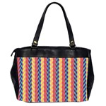 Colorful Chevron Retro Pattern Office Handbags (2 Sides)  Back
