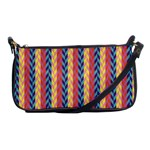 Colorful Chevron Retro Pattern Shoulder Clutch Bags Front