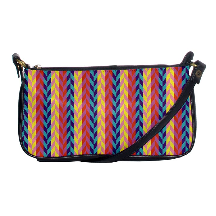 Colorful Chevron Retro Pattern Shoulder Clutch Bags