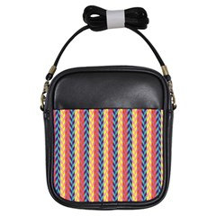 Colorful Chevron Retro Pattern Girls Sling Bags