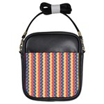 Colorful Chevron Retro Pattern Girls Sling Bags Front
