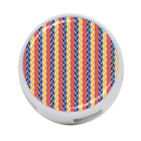 Colorful Chevron Retro Pattern 4-Port USB Hub (One Side)