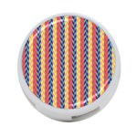 Colorful Chevron Retro Pattern 4-Port USB Hub (One Side) Front