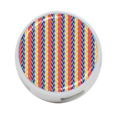 Colorful Chevron Retro Pattern 4-Port USB Hub (Two Sides)