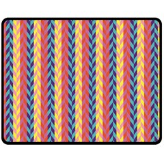 Colorful Chevron Retro Pattern Fleece Blanket (Medium)