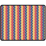 Colorful Chevron Retro Pattern Fleece Blanket (Medium)  60 x50 Blanket Front