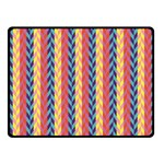 Colorful Chevron Retro Pattern Fleece Blanket (Small) 50 x40 Blanket Front