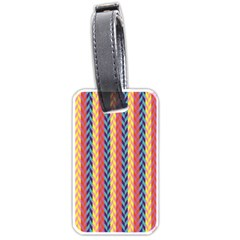Colorful Chevron Retro Pattern Luggage Tags (two Sides)