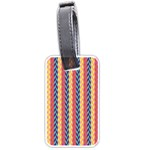 Colorful Chevron Retro Pattern Luggage Tags (Two Sides) Front