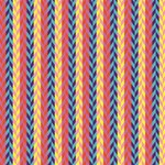 Colorful Chevron Retro Pattern Magic Photo Cubes Side 2