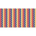 Colorful Chevron Retro Pattern Magic Photo Cubes Long Side 3