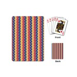 Colorful Chevron Retro Pattern Playing Cards (Mini)  Back