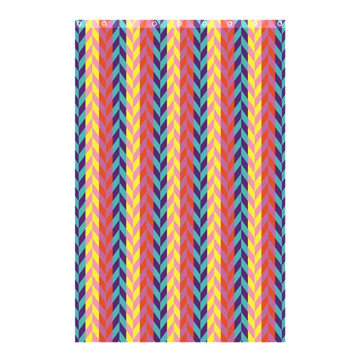 Colorful Chevron Retro Pattern Shower Curtain 48  x 72  (Small)