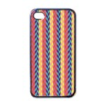 Colorful Chevron Retro Pattern Apple iPhone 4 Case (Black) Front