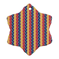 Colorful Chevron Retro Pattern Ornament (snowflake)