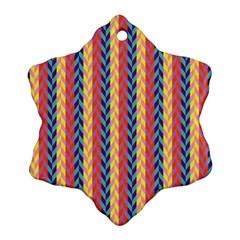 Colorful Chevron Retro Pattern Ornament (Snowflake)