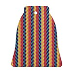 Colorful Chevron Retro Pattern Bell Ornament (2 Sides) Back