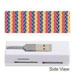 Colorful Chevron Retro Pattern Memory Card Reader (Stick)  Front