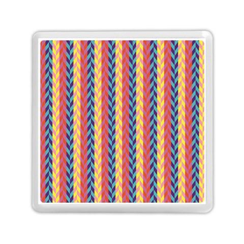 Colorful Chevron Retro Pattern Memory Card Reader (Square)